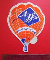 ADESIVO VINTAGE STICKER AUTOCOLLANT  AGFA KAMERAS  ANNI '80 10,5x13,5 cm