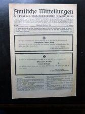 Amltiche Mitteilungen der Landesversicherungsanstalt Rheinprovinz Mai/Juni 1943