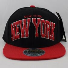 City Hunter Lana New York Nero Rosso Cappello con Visiera 00e0d553a814