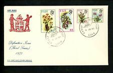 Postal History Fiji #305//320 /// 305+312+316+320 FDC Plants & Flowers 1972 Suva