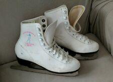 Girls White Ice Skates Katarina Acro Professional Sz 3 Winter Decor