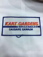 Vtg Kart Gardens International Embroidered Sew On Patch Calgary Alberta Racing