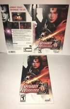 Dynasty Warriors PSP Original Replacement Artwork & Manual