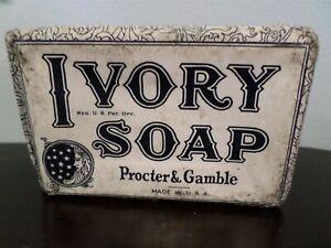 "Vintage Ivory Soap bar 1940's Large Size( 4 1/2"" x 3"" x1 1/2"")Procter & Gamble"