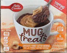 NEW BETTY CROCKER MUG TREATS CHOCOLATE PEANUT BUTTER BROWNIE MIX 13.9 OZ BOX BUY