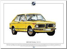 BMW 2002 TOURING - Fine Art Print - A3 size - German saloon car picture image