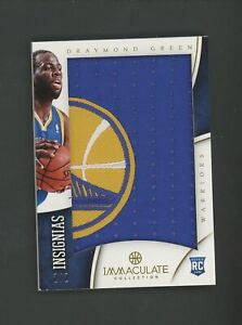2012-13 Immaculate Insignias Draymond Green RC Rookie Warriors Logo Patch 2/2