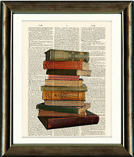Antique Book page Art Print - Vintage BOOKS Upcycled Dictionary page Wall Art