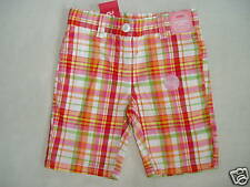 Gymboree CHERRY BABY White Plaid Multi Color Bermuda Shorts NWT 4 Spring Summer