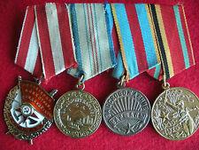 Russian Soviet USSR WW II Order Medal Group