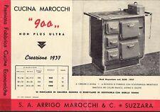 8743) SUZZARA (MANTOVA) 1937, VOLANTINO CUCINA ECONOMICA MAROCCHI MODELLO 900.