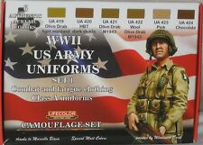 Lifecolor Acrylics LC-CS17 World War 2 US Army Uniform paint set 1