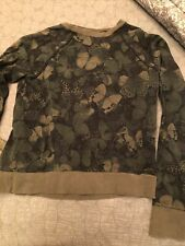 lululemon biggie ao butterfly pullover crew small s 6