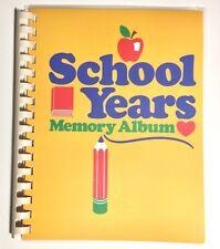 Vintage 80s School Years Memory Album Keepsake Organizer Book K-12 ca. 1987