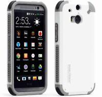 White PureGear Dualtek Extreme Impact cellphone Case for HTC One M8