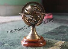 Solid Brass Tabletop Armillary Handmade Antique Maritime Globe Astrolabe Decor