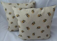 *NEW* BUMBLE BEE linen cushion cover MUSTARD