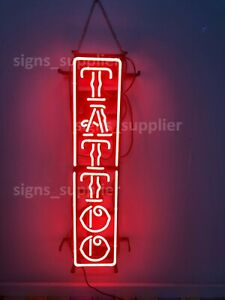 "New Tattoo Body Piercing Pub Bar Neon Sign 24""x6"""