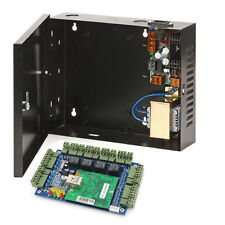 TCP/IP 4 doors access control board with 220V to DC 12V Black Power Supply box