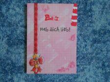 Pimboli Block A6 Sprücheblock * Hab dich lieb! * 8.Serie  35 Blatt + Sticker