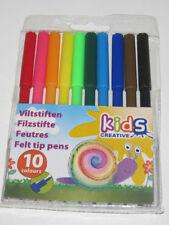 Set de 10 Crayons Feutre Couleur 14 cm Coloriage Dessin Kids Créative NEUF