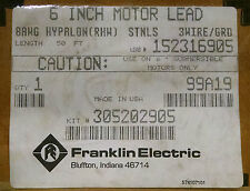 "Franklin Electric 6""motor leads 50ft 3-Wire submersible 305202905, 152316905"