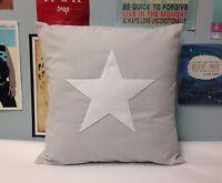 Grey White Star Cushion Cover Christmas Pillow Modern 14 16 18 20 22 24 inch