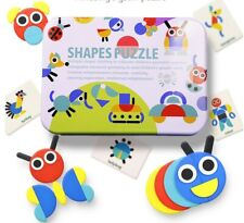 Kids Jigsaw Puzzle Shapes Toy Colors Fun Learning Education Tetris Tangram Play