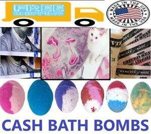 NEW LARGE 8OZ Cash Bath Bomb $2 - $100 Inside  organic,