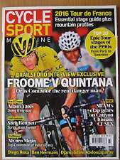 Cycle Sport magazine Summer 2016 Dave Brailsford Chris Froome Adam Yates Mejia