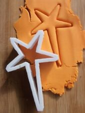Shooting Star Fondant Cutter Biscuit Pastry Cookie Stencil Christmas Star XM44