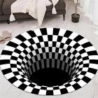 3DPrinted Anti-slip Round Vortex Illusion Livingroom Rug Door Mat Floor Carpet