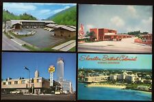 Great Collection of 12 Different Vintage Worldwide Hotel/Motel Postcards B4385