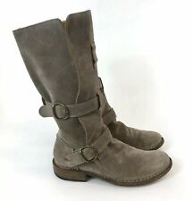 Fiorentini & Baker Brown Leather Pull On Buckle Biker Boho Hippies Boots UK5.5