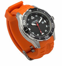 Cressi MANTA Scuba Diving 100M Wrist Watch Black/Orange