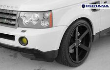 22x11 +45 Rohana RC22 5x120 Black Wheel Fit Land range rover sport 2010 5x4.75