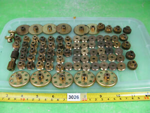 vintage meccano brass pinions etc mixed lot construction toy 3026