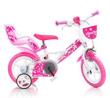 Bicicletta 12 Pollici Piccoli Cuori per Bambina Dino Bikes Rotelle Freno Cestino