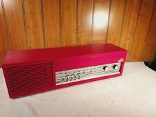 Vintage 1968 Nordmende Spectra Phonic C AM/FM Radio Red Works - Needs Work