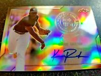 KUMAR ROCKER 2017 LEAF PERFECT GAME Auto METAL CHROME PRISMATIC Autograph RC
