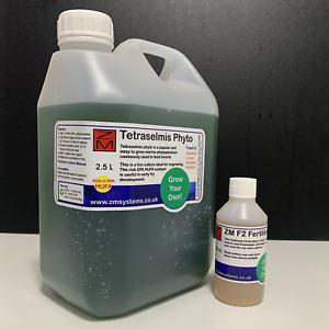 Live Marine Tetraselmis phyto 2.5L with FREE ZM F2 algae fertiliser 100ml combo