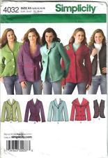 Simplicity Pattern 4032 Jackets Vest Misses Szs 8 - 16 Uncut