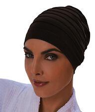Fashy Ladies Yoga Exercise Cap Hair Turban - BLACK - Chemo Hats & Hairloss Caps