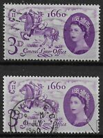 """SG619a.  1960 GLO 3d.- Variety """"Broken Mane"""" Fine Used. With Normal. Ref:0-58"""
