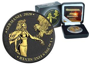 1 oz Silber 5 Mark Germania 2020 Black Gold Space Edition