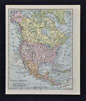 1917 McNally Map - North America - United States Canada Mexico Alaska Cuba