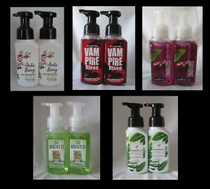 Lot of 2 Bath & and Body Works  GENTLY FOAMING HAND SOAPS - YOU Pick Scent