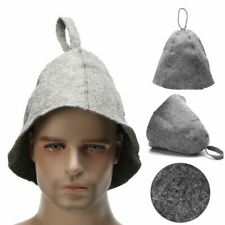 Portable Wool Felt Grey Adults Sauna Hat Russian Style Hats Supply Accessories