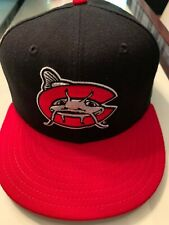 Carolina Mudcats Vintage New Era 100% Wool Fitted Hat 7 7/8 Minor League