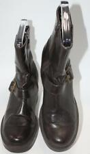 Skechers Women's Brown Zip Up Buckle Ankle Block Heeled Boots Size 8 Shoes